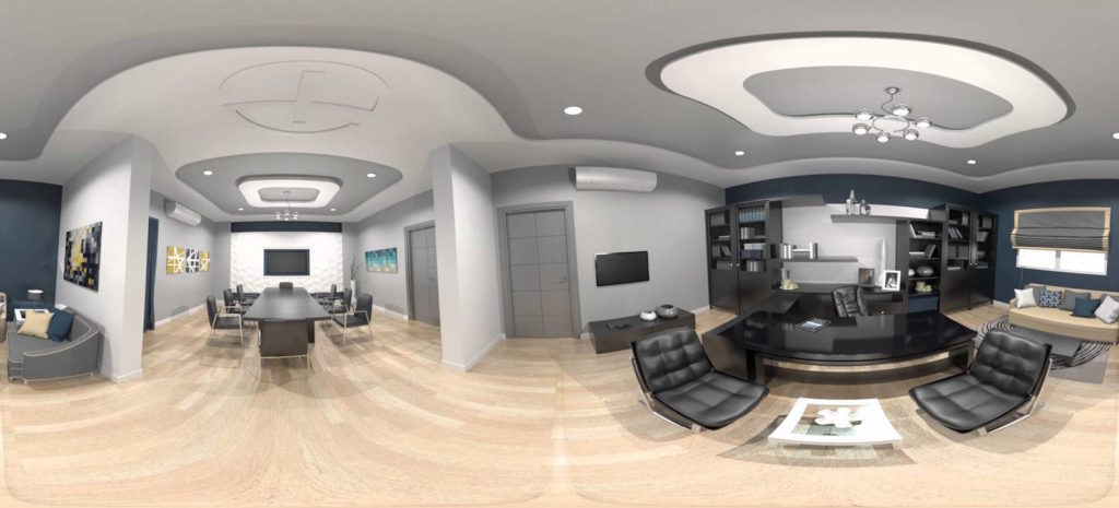 Office Interior In Video 360